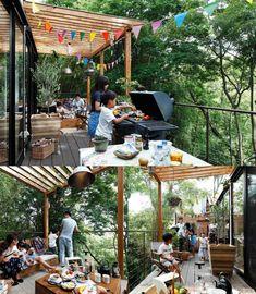 アウトドアリビングフェスタ – nakashouの庭 Cafe Design, House Design, Earthy Home, Country Lifestyle, Garden Bar, Backyard, Patio, Outdoor Living, Outdoor Decor