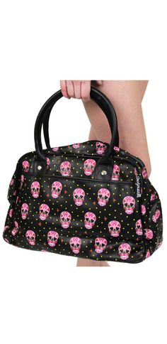 SOURPUSS SWEETHEART SKULL BOWLER PURSE if buy a ball for this ha