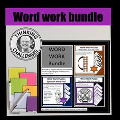 Are you looking for a no prep, word work bundle featuring synonyms, Janus words and leader words to challenge your middle school, junior high students? Plenty of challenges here. Middle School, Back To School, Word Ladders, Digital Word, Vocabulary Building, Thematic Units, Janus, The Middle, Upper Elementary