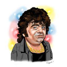 Karikatuur van Andre Hazes getekend door sneltekenaar Christel Schols