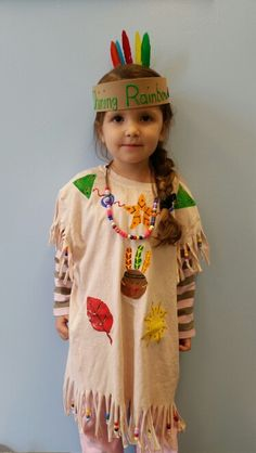 Preschool Native American / Indian costume for thanksgiving program