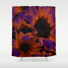 Burning flower. Shower Curtain