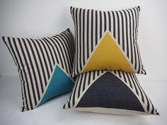 Decorative Pillows, Throw Pillows, Geometric Pillows, Yellow Blue Black, pillow cases, Outdoor pillows, Pillow covers, Throw pillows sofa