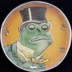 Frog in top hat dexterity puzzle, vintage game