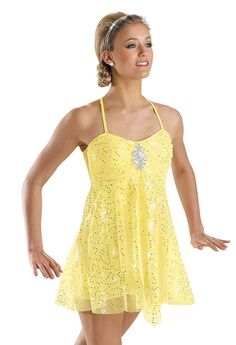 Women's Sequin Mesh Biketard; Weissman Costumes (5813) Double cross back. Includes headband.