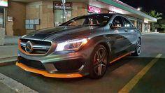 Mercedes CLA 45 AMG Orange Accents