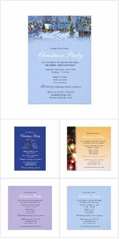 Vintage, floral  Christmas Party Invitations
