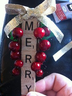 Perfectly Imperfect By Alicia Rose Scrabble Ornaments