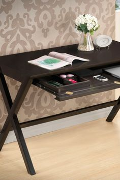 Tulsa Modern Desk - Dark Brown by W.I. Modern Furniture on @HauteLook