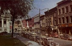 Margaret Street Looking North From The Witherill Hotel Plattsburgh New York