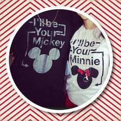 His and hers disney shirts! I wonder if I could get James to wear these with me..teehee