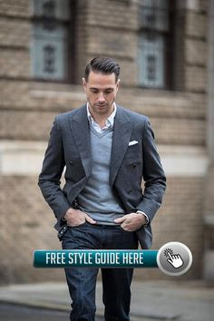 Look like a fabulous star at work with these Business Casual Outfits Ideas to try! See full list here. Business Attire For Men, Business Casual Outfits, Im Online, Bespoke Suit, Formal Wear, Style Guides, Suit Jacket, Mens Fashion, Suits