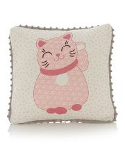George Home Lucky Cat Cushion