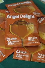 angel delight butterscotch - used to be my favourite flavour, it was nice served with tinned pears too!