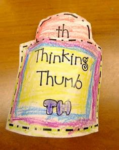 First Grade Blue Skies: Thinking Thumbs for th