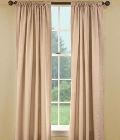 Insulated Faille Rod Pocket Curtains Was: $79.50 - $119.95                         Now: $44.99 - $119.95