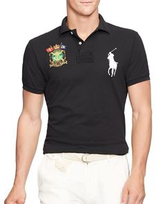 Polo Ralph Lauren Nautical-Crest Trim Fit Polo