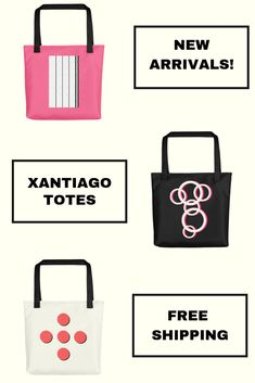 Discover unique tote bags from Xantiago. We offer a collection of beautiful and unique tote bags to make you feel special. Shop tote bags online now! White Tote Bag, Pink Tote Bags, Womens Tote Bags, Reusable Tote Bags, Tote Bags Online, Shopping Totes, Unique Bags, Bag Making, Beautiful