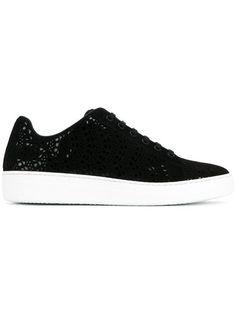 ALAÏA perforated lace-up sneakers. #alaïa #shoes #перфорацией