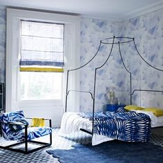 Mix and match different prints for rich, unified space. A tiled floor will create an exotic mediterranean-inspired room