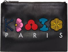 Kenzo - Black Occasions Zip Pouch, сумки модные брендовые, bags lovers, http://bags-lovers.livejournal