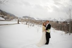 Molly and Alan- winter wedding in Aspen, CO, January 2014