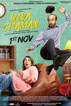 <~>Ujda Chaman 2019 Hindi Bollywood Movie for Free Comedy Movie Quotes, Funny Comedy Movies, Romantic Comedy Movies, Hindi Bollywood Movies, Hindi Movies, Bollywood Posters, Tamil Movies, O Movie, Movie List