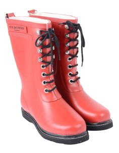 Ilse Jacobsen - 3/4 Wellington Boot Rub15 - Red | Accent Clothing