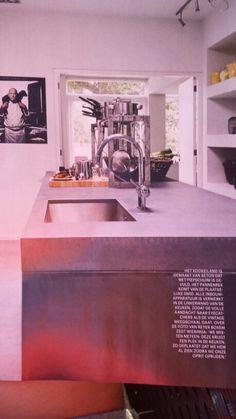 Keukenblad beton gevuld met piepschuim