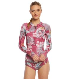 fe42893b1f Billabong Women s 2mm Mas Tropical Salty Dayz Chest Zip Long Sleeve Spring  Suit Wetsuit at SwimOutlet.com – The Web s most popular swim shop