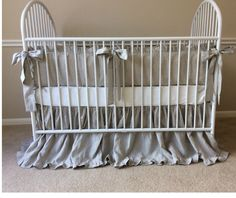 Natural Linen Baby Bedding Set | Handcrafted by Superior Custom Linens