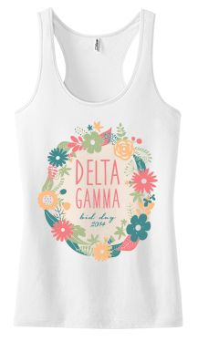 College Hill Custom Threads sorority and fraternity greek apparel and products! | @ch_threads | created for Delta Gamma Bid Day #BidDayTanks #CustomTanks #DG