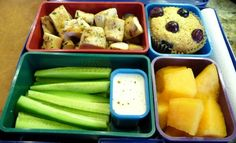 Would make an avocado whole grain fruit muffin to go with this lunch idea.