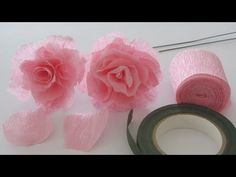 ▶ How to Make a Crepe Paper Rose Craft Tutorial - YouTube