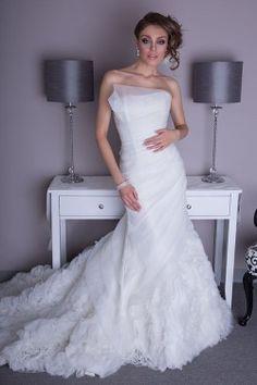 Angel Rivera Vivian Strapless Long Wedding Dress