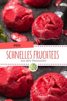 Schnelles Fruchteis aus dem Thermomix® Prepare yourself for the summer already mentally. A quick fruit ice cream from the Thermomix® helps you. Fruit Ice Cream, Healthy Ice Cream, Healthy Meals To Cook, Healthy Dessert Recipes, Healthy Food, Creative Desserts, Fun Desserts, Nutella, Fruit Fast