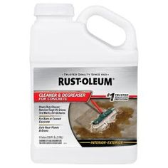 Cleaner and - The Home Depot - Garage - Rust-Oleum 1 gal. Cleaner and – The Home Depot - Epoxy Concrete Floor, Concrete Cleaner, Painted Concrete Floors, Concrete Coatings, Garage Epoxy, Garage Floor Paint, Home Depot, Computer Cleaner, Garage Boden