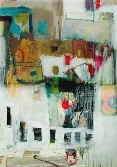 wall 01 by anne-laure djaballah, via Flickr  cleans her brushes on the walls of her studio