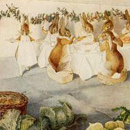 A Rabbit's Christmas Party, The Meal by Beatrix Potter