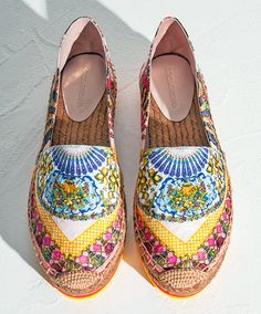 Dolce & Gabbana can be counted on for bursts of bright patterns and color and these espadrilles pack a psychedelic punch! The Foulard brocade espadrille sneakers are for those laid back loungers that get a little burst of energy now and again and will appreciate the sneaker sole. Discover your inner boho bombshell here: http://balharbourshops.com/fashion/fashion-news/3603-boho-bombshell