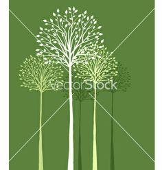 Trees vector by odina222 on VectorStock®