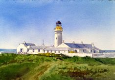 Peter Robinson, Isle Of Man, Lighthouse, Watercolor Paintings, Bell Rock Lighthouse, Light House, Water Colors, Lighthouses, Watercolour Paintings