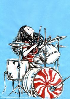 Meg Smith, aka Meg White. I have no idea who did this but I love it!