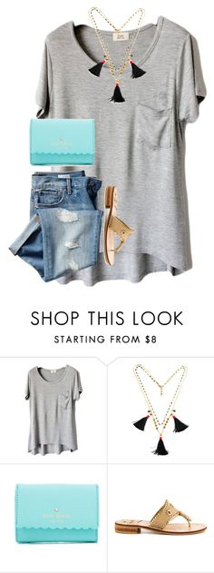 """I think I twisted my ankle"" by preppy-horsegirl ❤ liked on Polyvore featuring Gap, Kate Spade and Jack Rogers"