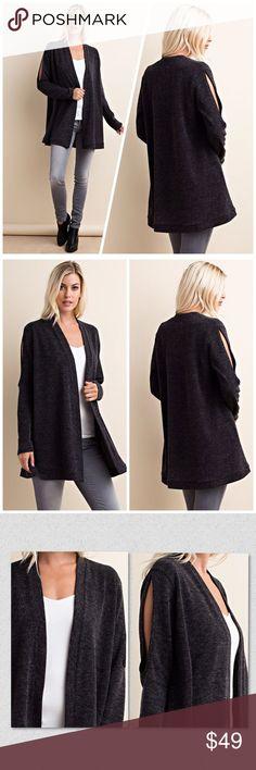 Black exposed shoulder sweater! LAST 2 Boutique