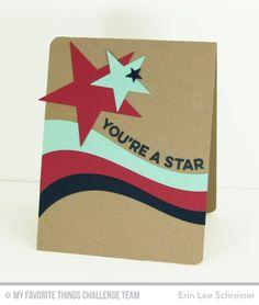 Wavy Greetings, Ride the Wave Die-namics, Star Stax Die-namics - Erin Lee Shriener #mftstamps