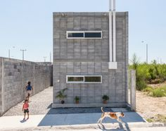 """The Casa Caja """"Box House"""" by S-AR is a model for low-cost concrete housing"""
