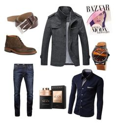 """Class"" by aysegulkadayif-1 on Polyvore featuring Akribos XXIV, Trask, HUGO, Jack & Jones, Bela, men's fashion and menswear"