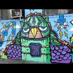 Owl graffiti.