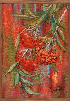 "by Rahola Drdul: Rowan,2013 16""w x 22""h Hand dyed merino wool, silk, linen, mohair,"